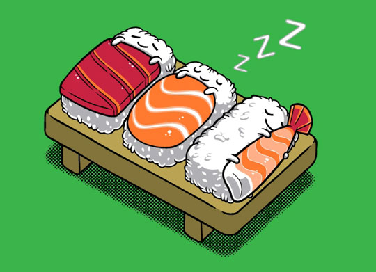 funny-sushi-sleeping-art
