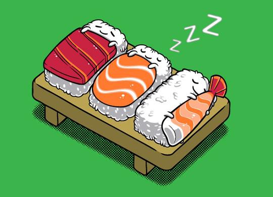funny-sushi-sleeping-art